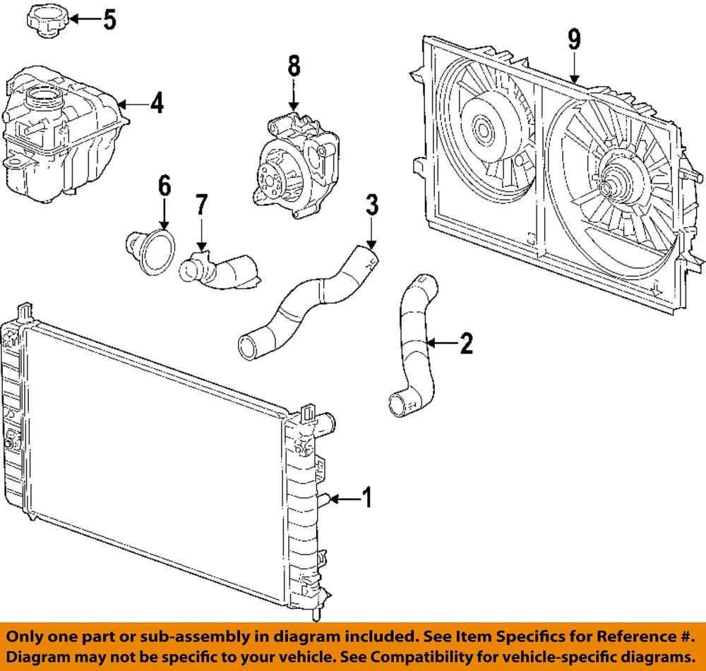 Gm Oem Engine Cooling Radiator Fan Blade 15788745 Ebay Diagram