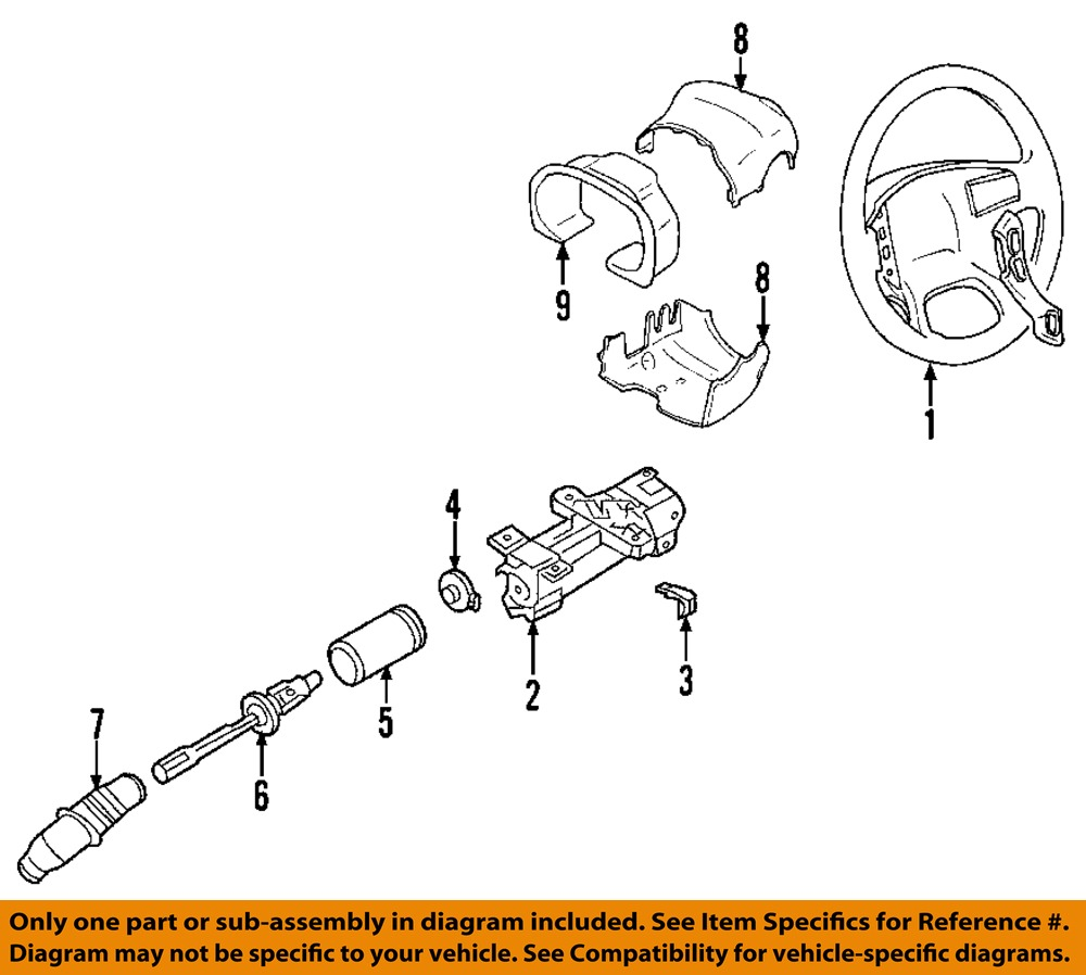53 Cadillac Wiring Diagram Not Lossing Deville On Audio Diagrams Gm Oem Steering Column Angle Position Sensor 15231652 Ebay Cadilac Electrical For Cars Morgan Motors 1962