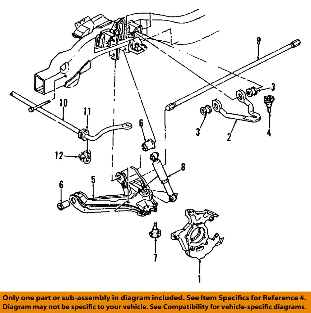 gm oem front suspension shock absorber 19300047 ebay rh ebay com gmc envoy front suspension diagram gmc canyon suspension diagram