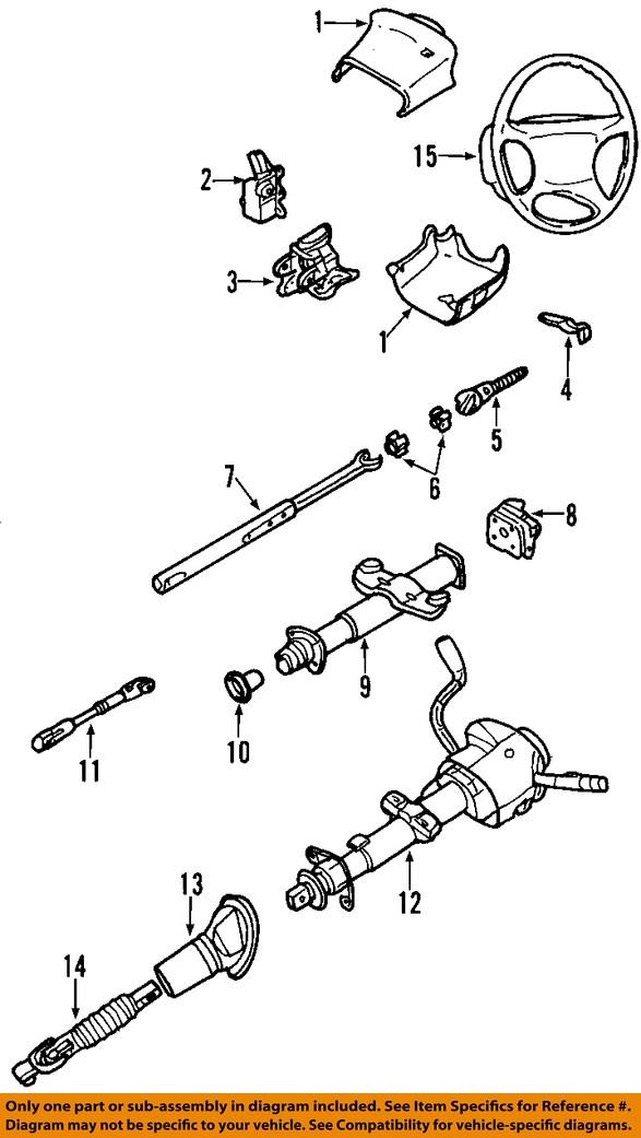 gm oem steering wheel 10364494 ebay rh ebay com gmc envoy power steering diagram gmc hydroboost steering diagram