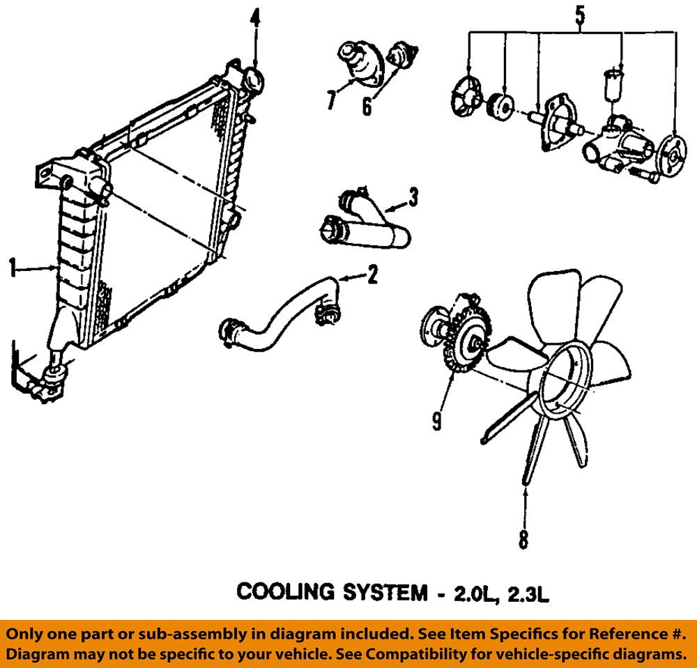 Ford Motorcraft Rt1193 Oem Engine Coolant Thermostat 3m4z 8575 B W System Diagram 3m4z8575b