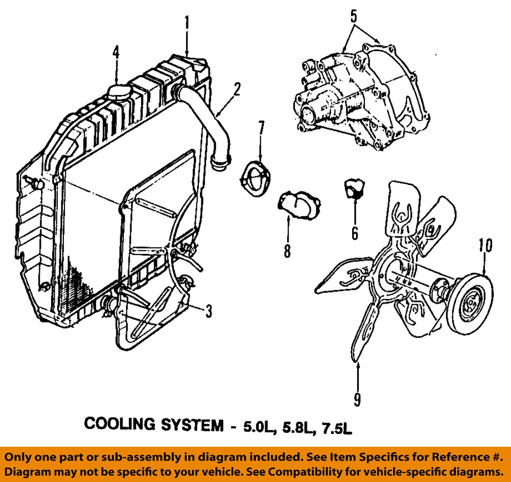 Ford 7 5l Engine Diagram Great Design Of Wiring 460 Motorcraft Rt1139 Oem Coolant Thermostat Xr3z 8575 Ba Rh Ebay Com