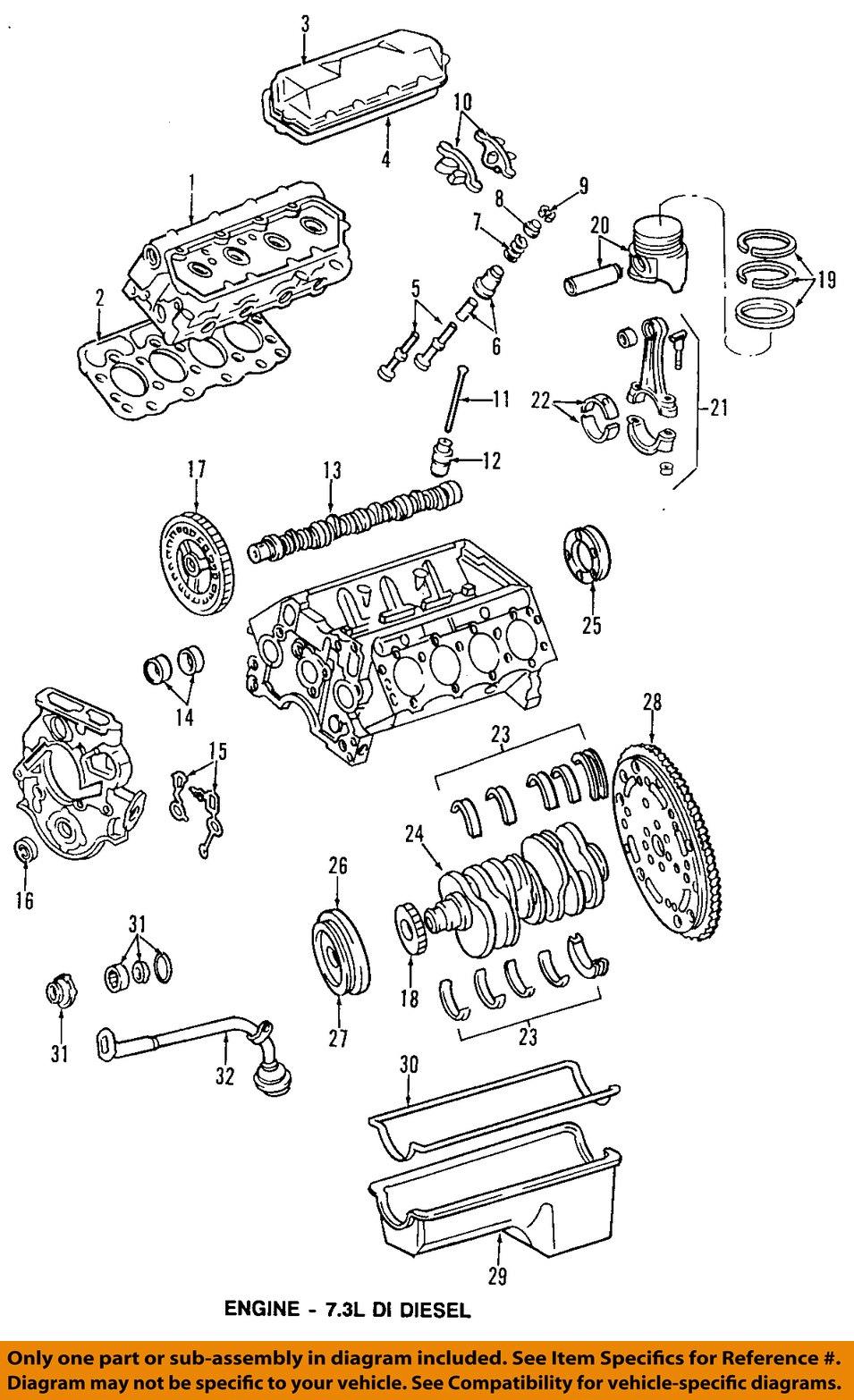 Ford Oem 1995 2003 Super Duty Engine Oil Pump Gasket O Ring Xc3z 1996 7 3 Liter Diesel Diagram High Pressure 95 96 E 350 Econoline Club Wagon Xc3z6619aa