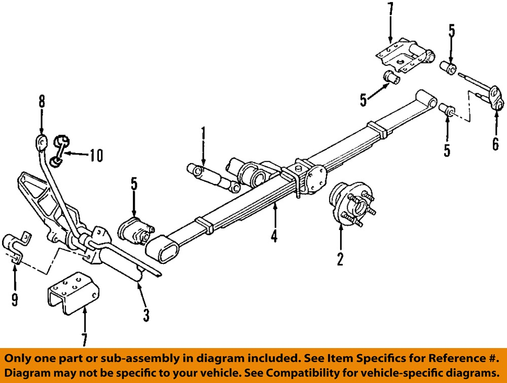 OEDIAG2_T040095 chrysler oem rear suspension spring bracket 5006089aa ebay dodge caravan front suspension diagram at bakdesigns.co