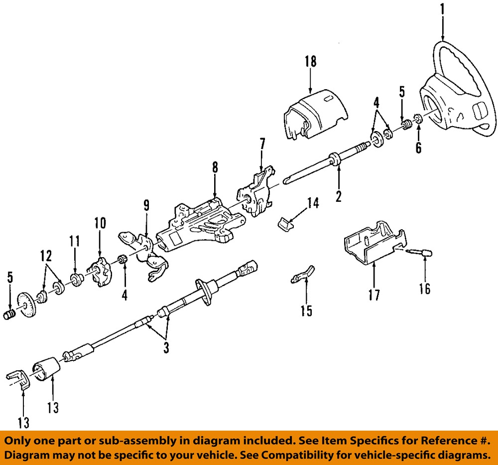 2008 Ford F650 Wiring Diagram Top Engine Fuse Oem Steering Column Bearing F4dz3517b Ebay F750