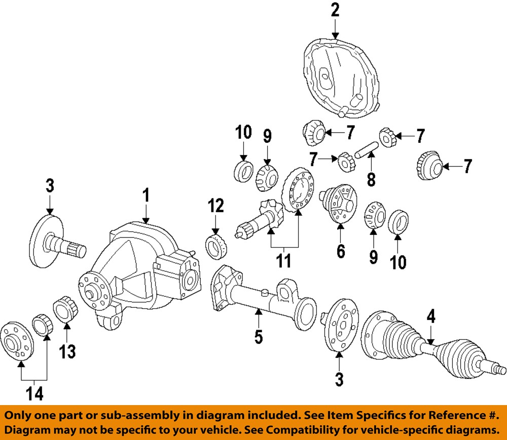 Ford Oem Front Axle Shaft 7l1z