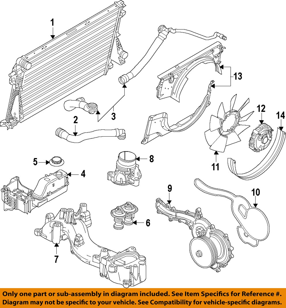 ford f 250 cooling system diagram ford motorcraft km-5228 oem 2011-2016 super duty radiator ... #7