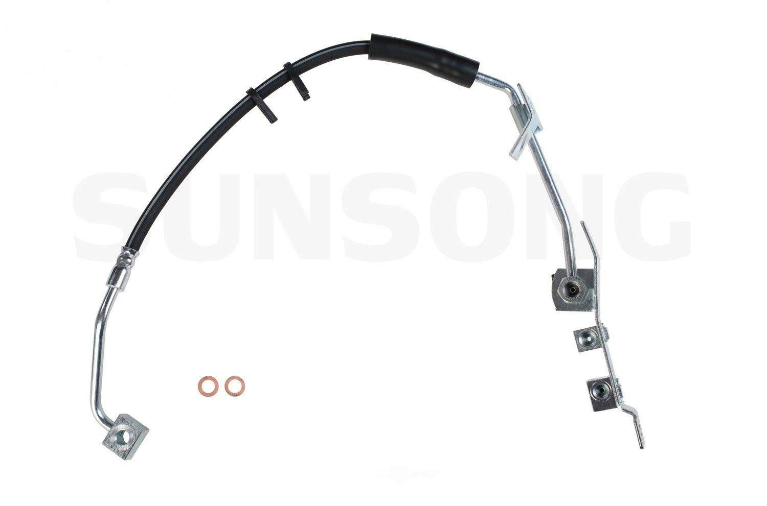 brake hydraulic hose front left sunsong north america fits