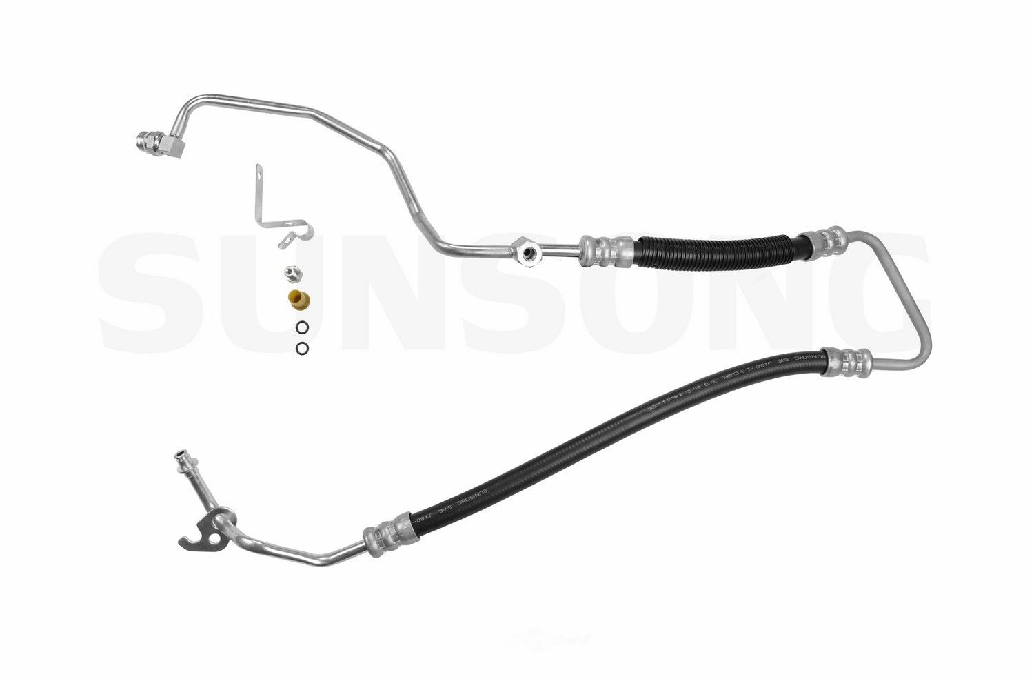 power steering pressure line hose assembly fits 02