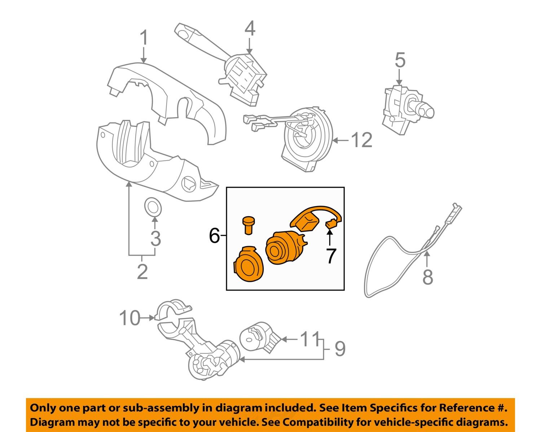 1042220_6Full hyundai oem 06 11 accent ignition lock cylinder 819201ea00 ebay