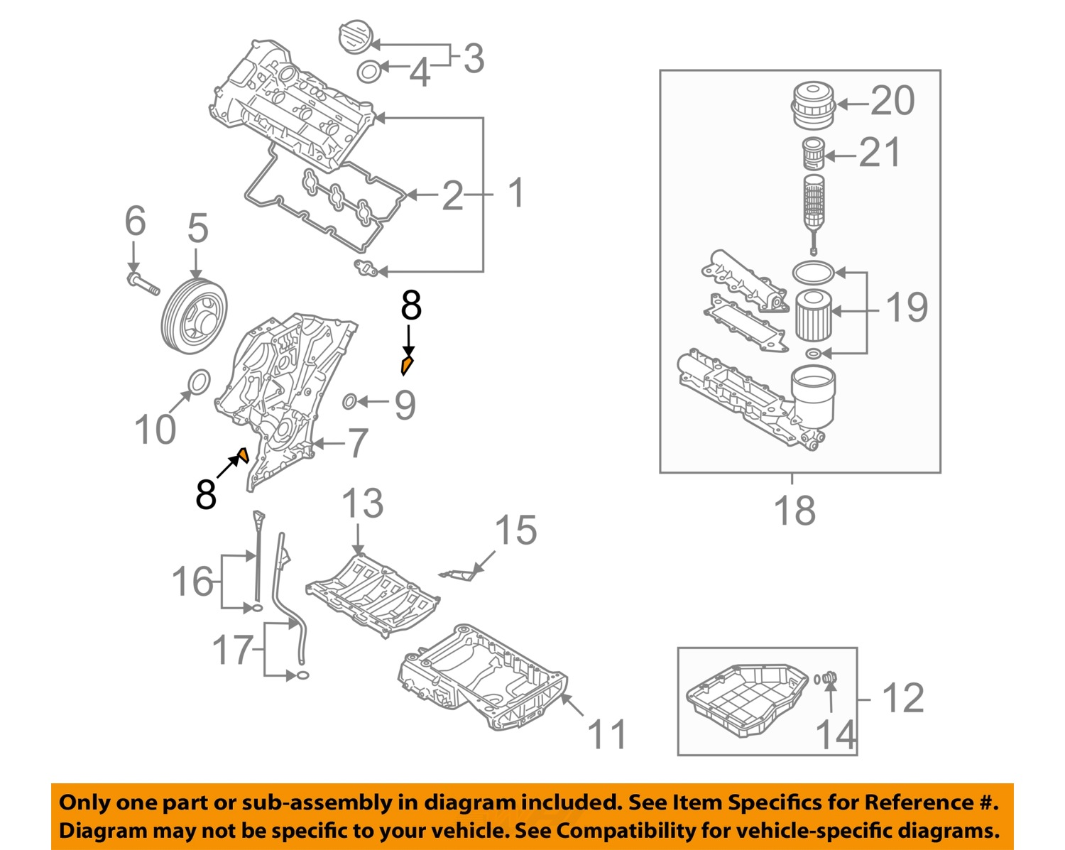 Hyundai Oem 07 17 Santa Fe Engine Timing Cover Gasket Right 2007 Entourage Diagram 8 On Only Genuine Oe Factory Original Item