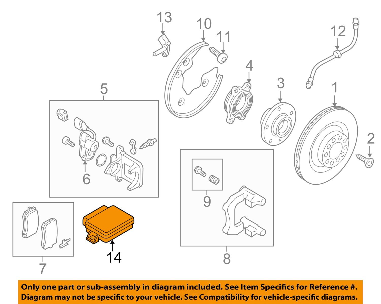 AUDI OEM 09-17 Q5 Parking Brake-Actuator Motor 8K0907801H | eBay