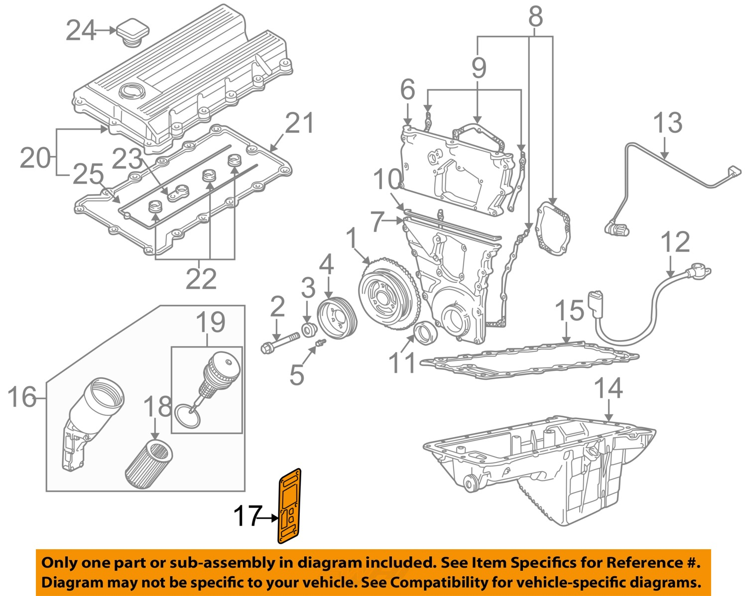 Bmw Z3 Engine Diagram X Wiring Diagrams Online 1998 Oem Z L Oil Filter Housing Gasket 96 98 1 9l L4