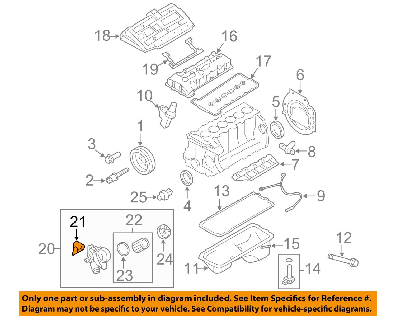 bmw oem 06 16 z4 3 0l l6 engine oil filter housing gasket rh ebay com BMW  530I Engine Diagram BMW 323I Engine Diagram