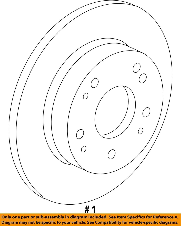 Acura HONDA OEM 2017 MDX Rear Brake-Rotor 42510TZ5H10