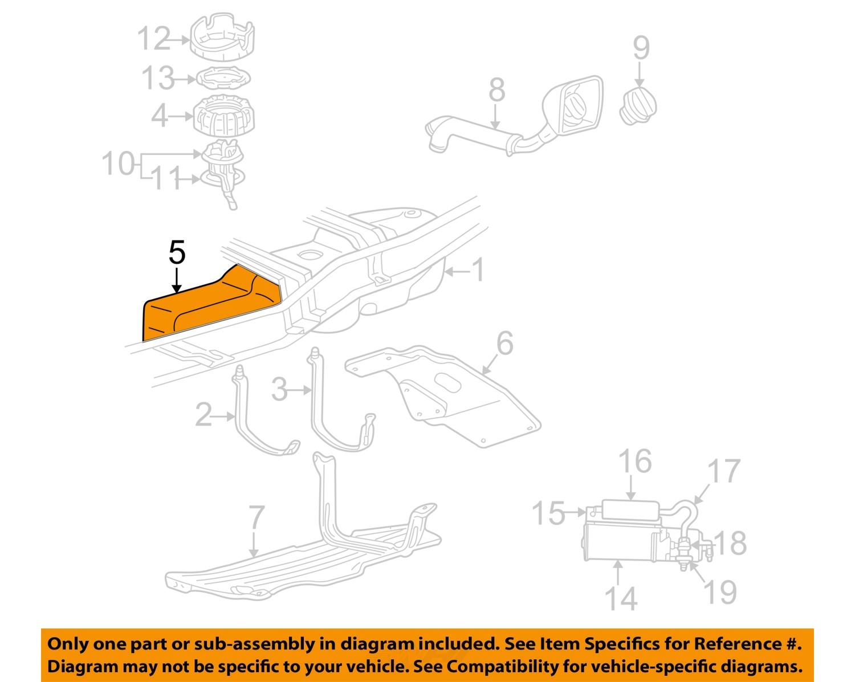 MAZDA OEM 01-03 B3000 3.0L-V6 Fuel System-Protector 1F0142790