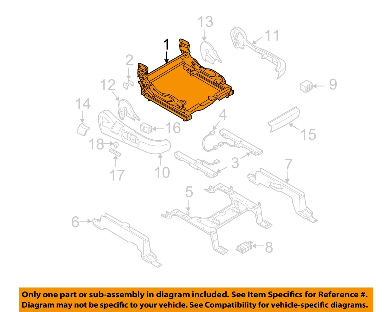Mazda Oem 07 09 Cx 9 Power Seat Bottom Base Tracks Adjuster 2007 Engine Diagram Td1388aa0