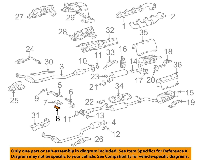 mercedes oem 00 06 s500 5 0l v8 exhaust converter & pipe mount plate Chevy  V8