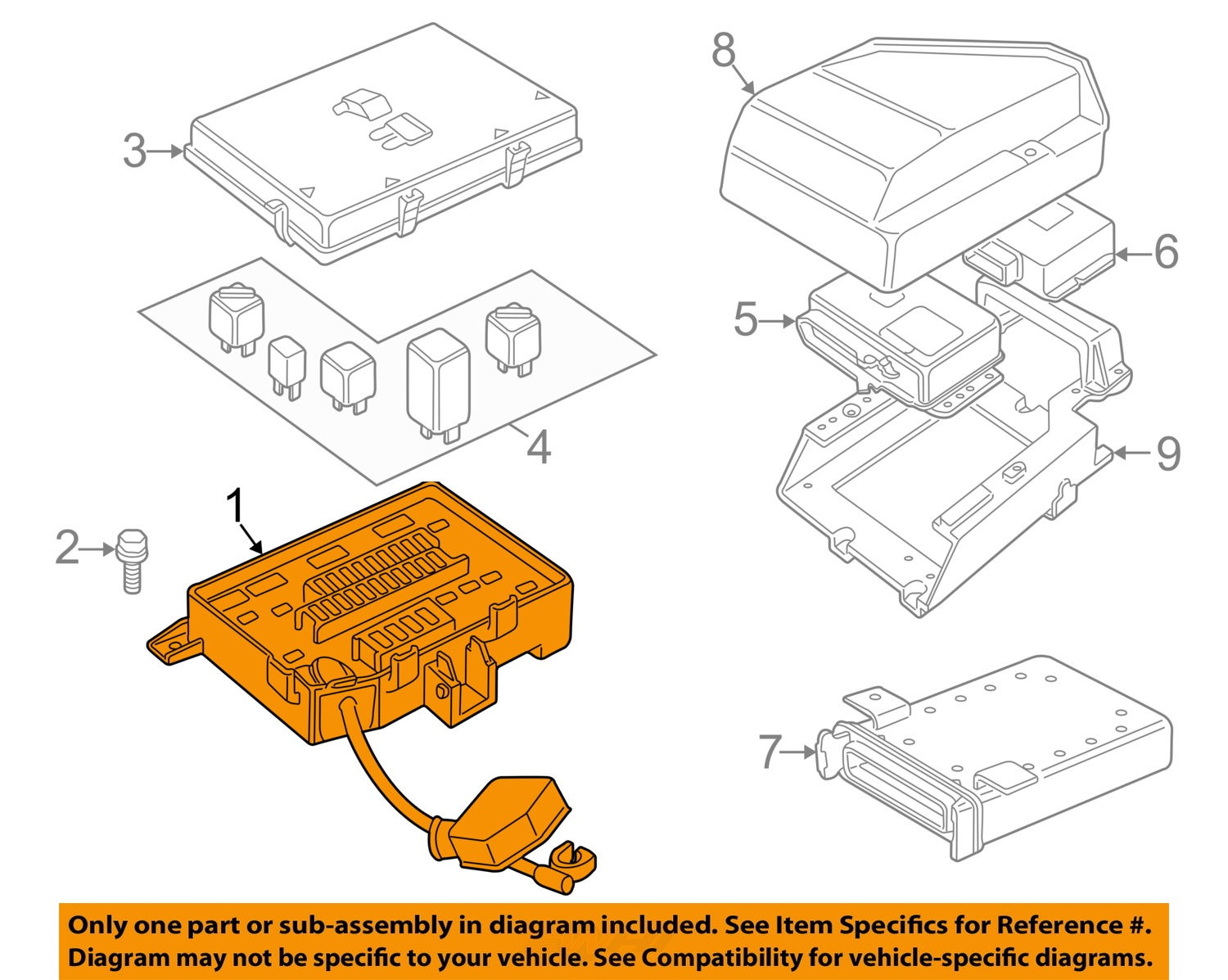 99 Range Rover Fuse Diagram Just Wirings P 38 Engine Diagrams Land Oem 02 Box Yqe103410 Ebay 98 Hse 4