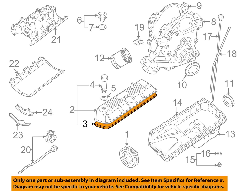 Land rover oem 96 02 range rover 46l v8 engine valve cover gasket 3 on diagram only genuine oe factory original item pooptronica