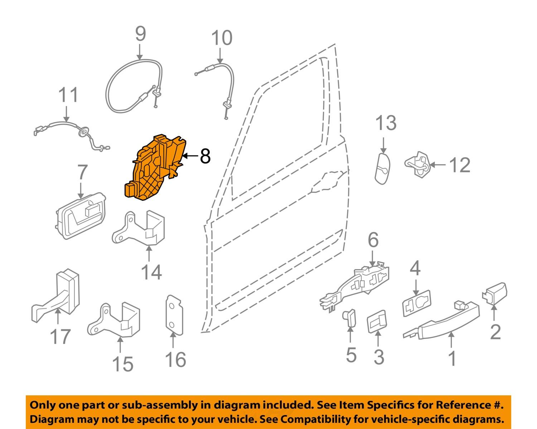 Land rover oem 05 07 lr3 front door lock latch kit for Front door not centered