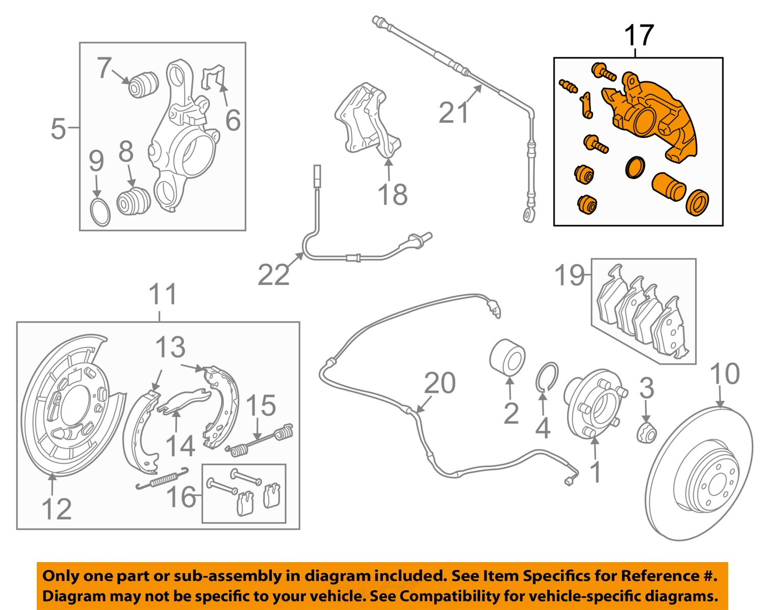 Land Rover Disc 2 Diagram Great Design Of Wiring Engine Diagrams Used Oem 2005 2009 Lr3 Rear Brake Caliper Discovery 1