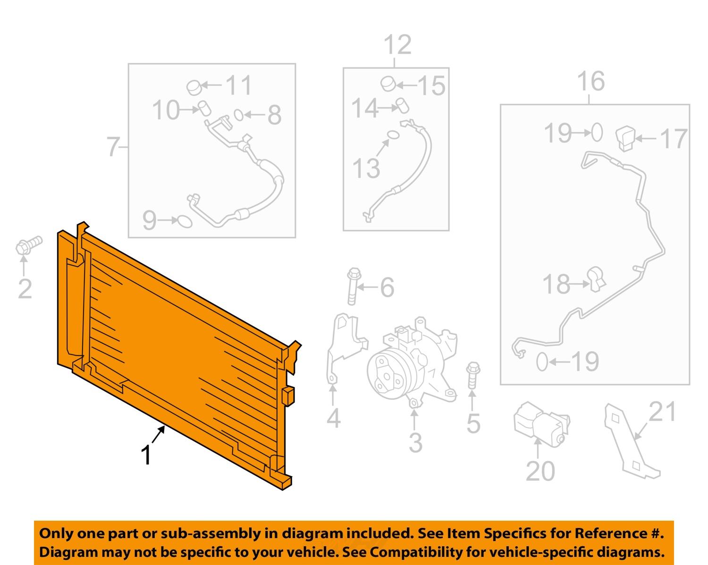 7604115_1Full subaru oem 14 15 forester air conditioner a c ac condenser