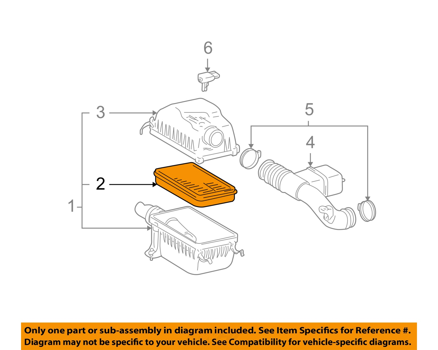 toyota oem engine air filter for tundra and sequoia 17801-07010 2 2 of 3