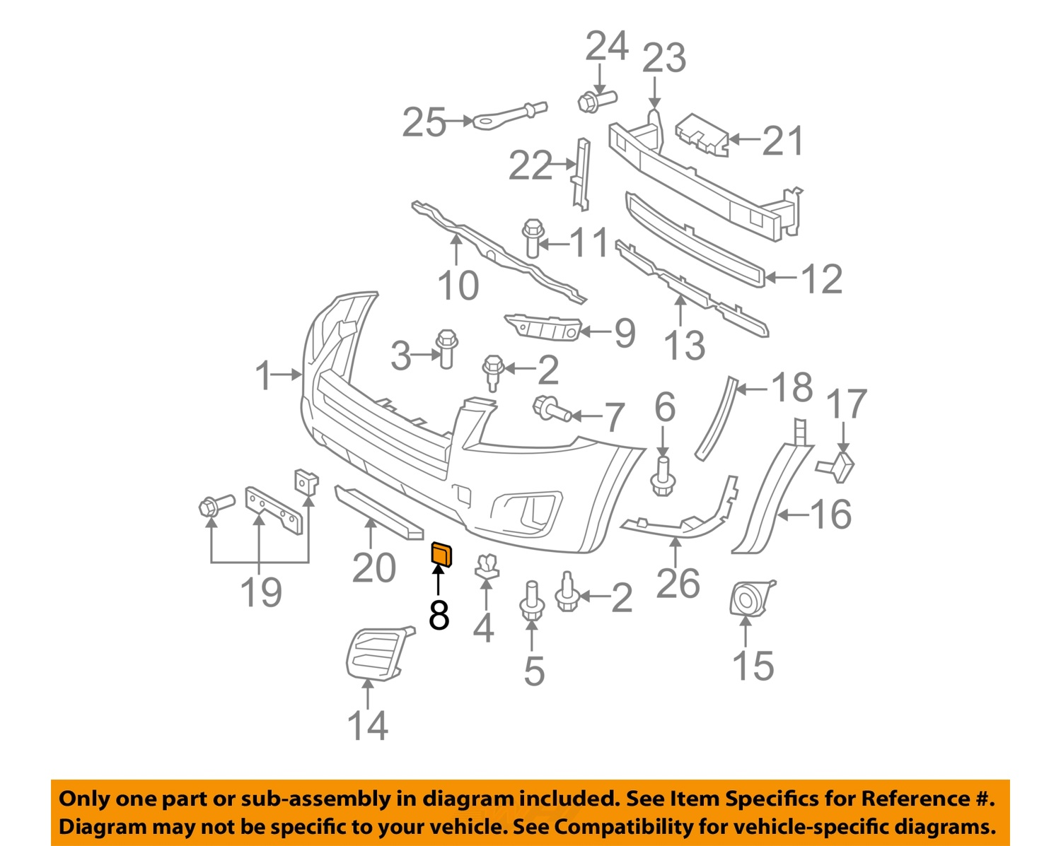 Toyota oem 2012 rav4 front bumper tow hook eye cover cap right 8 on diagram only genuine oe factory original item pooptronica