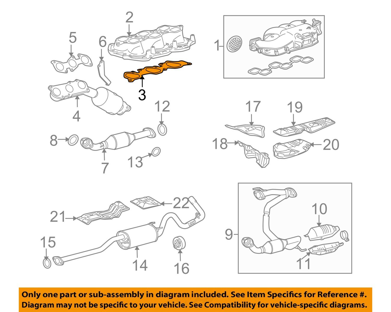 Toyota Oem 20052015 Intake Manifold Gasket 17178ad010 Factory. 3 On Diagram Onlygenuine Oe Factory Original Item. Toyota. 4runner Intake 3 4toyota Diagram At Scoala.co