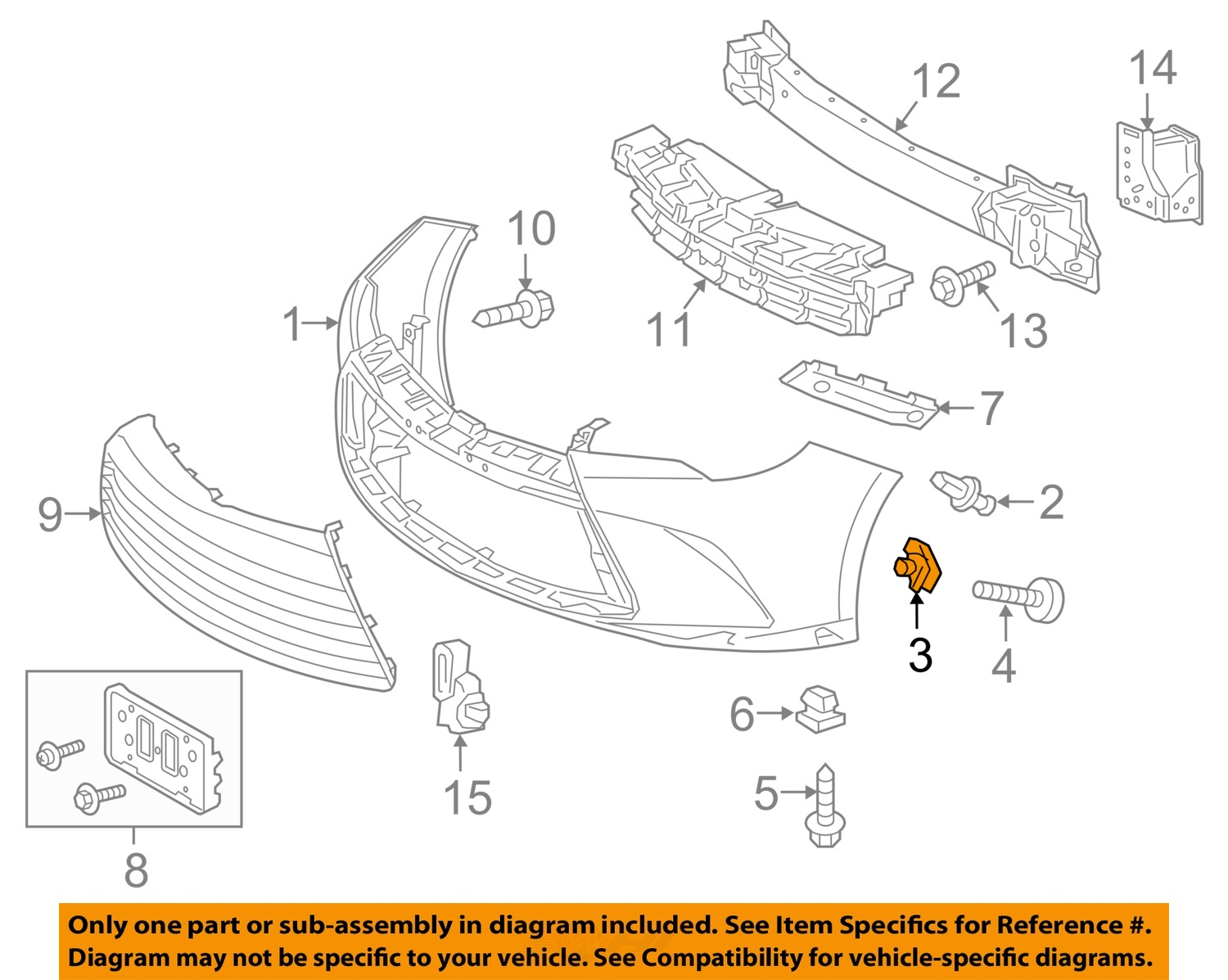 Toyota OEM Front Bumper Cover Retainer Clip 53879-06100 Factory One Only    eBayeBay