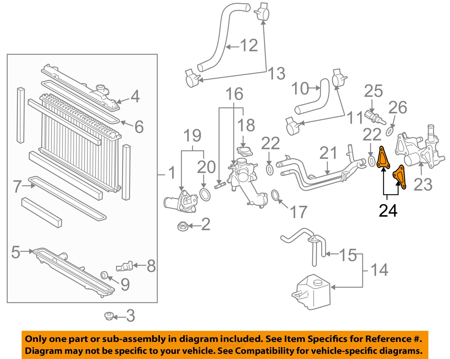 Genuine Toyota Radiator And Water Outlet Gasket