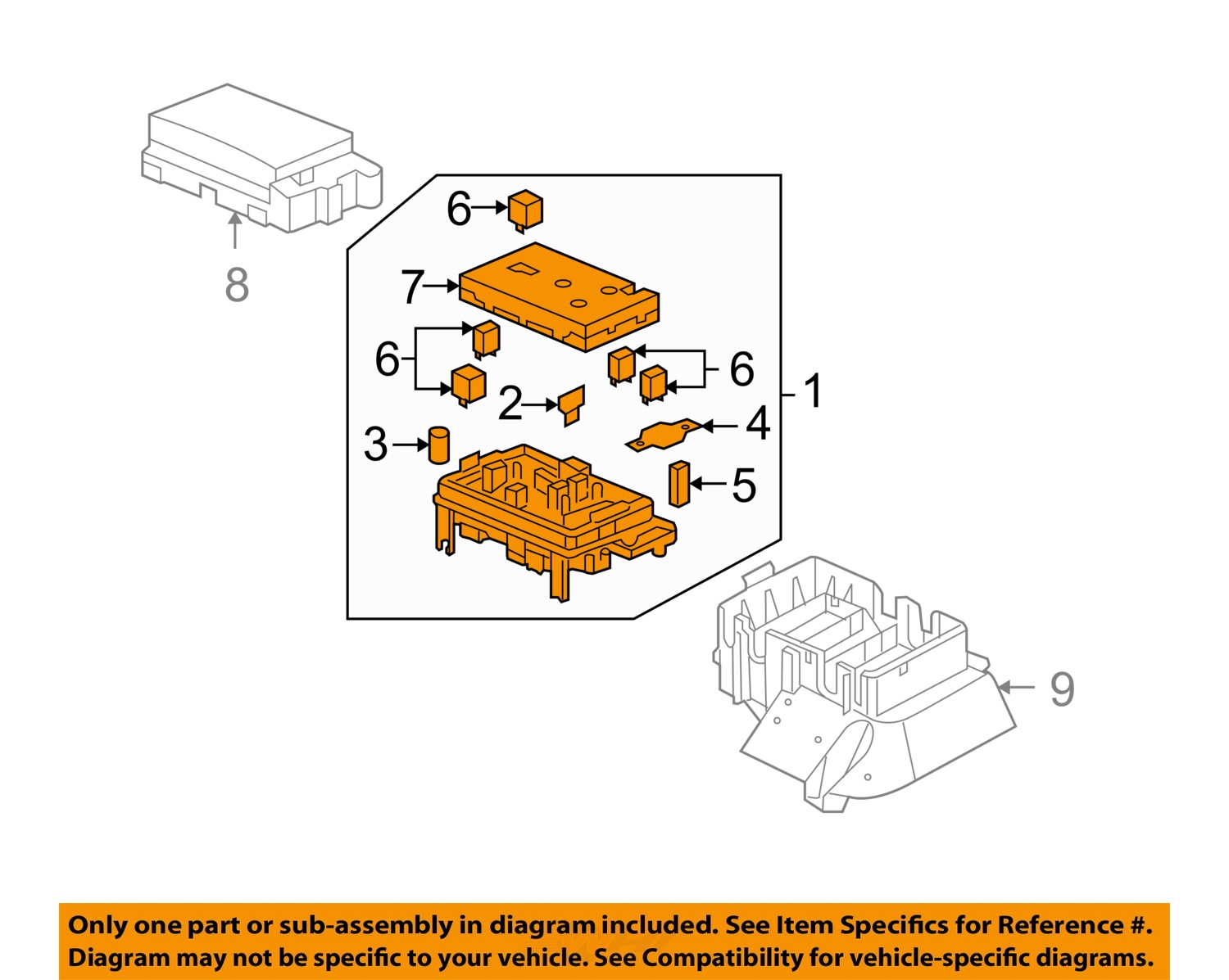AR04185_1Full buick gm oem 05 06 rainier electrical fuse & relay box 15141559 ebay 2008 Buick Lucerne CXL at couponss.co
