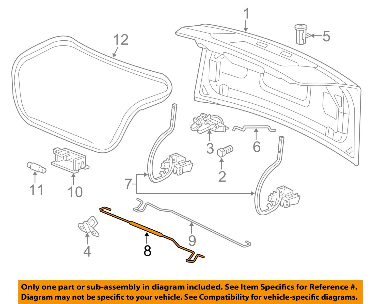 chevrolet gm oem 04-08 malibu trunk lid-torsion bar torque ... 02 chevy malibu door lock diagram