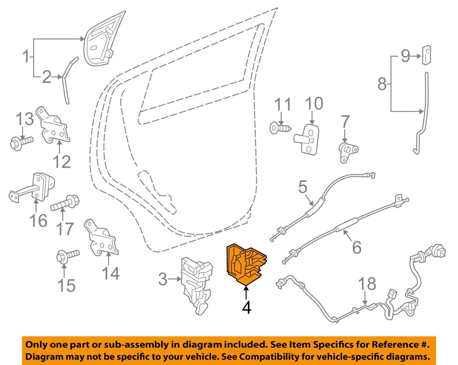 chevrolet gm oem 13 15 spark lock rear door support bracket right rh ebay com GM Wiring Schematics GM Wiring Schematics