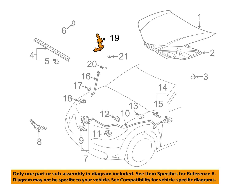 Pontiac Gm Oem 03 08 Vibe Hood Hinge Right 88972575 Ebay Engine Diagram 19 On Only Genuine Oe Factory Original Item