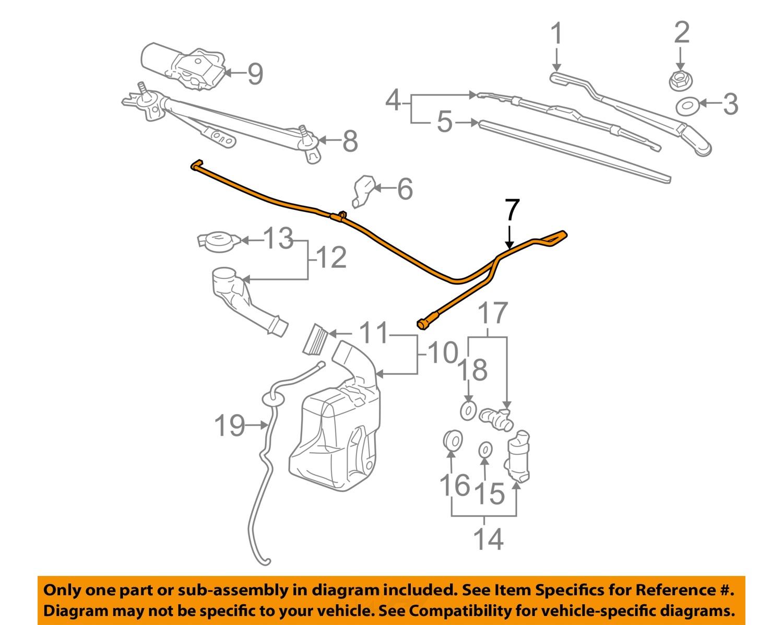 mopar intermittent wiper wiring diagrams pontiac gm oem 05-09 g6 wiper washer-windshield-washer hose 15225545 | ebay