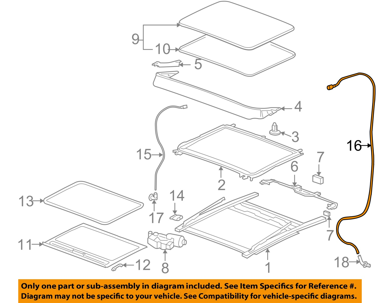 pontiac gm oem 07 09 g6 sunroof drain hose right 25998280 ebay rh ebay com pontiac g6 panoramic sunroof diagram 2005 Pontiac G6 Rear Suspension