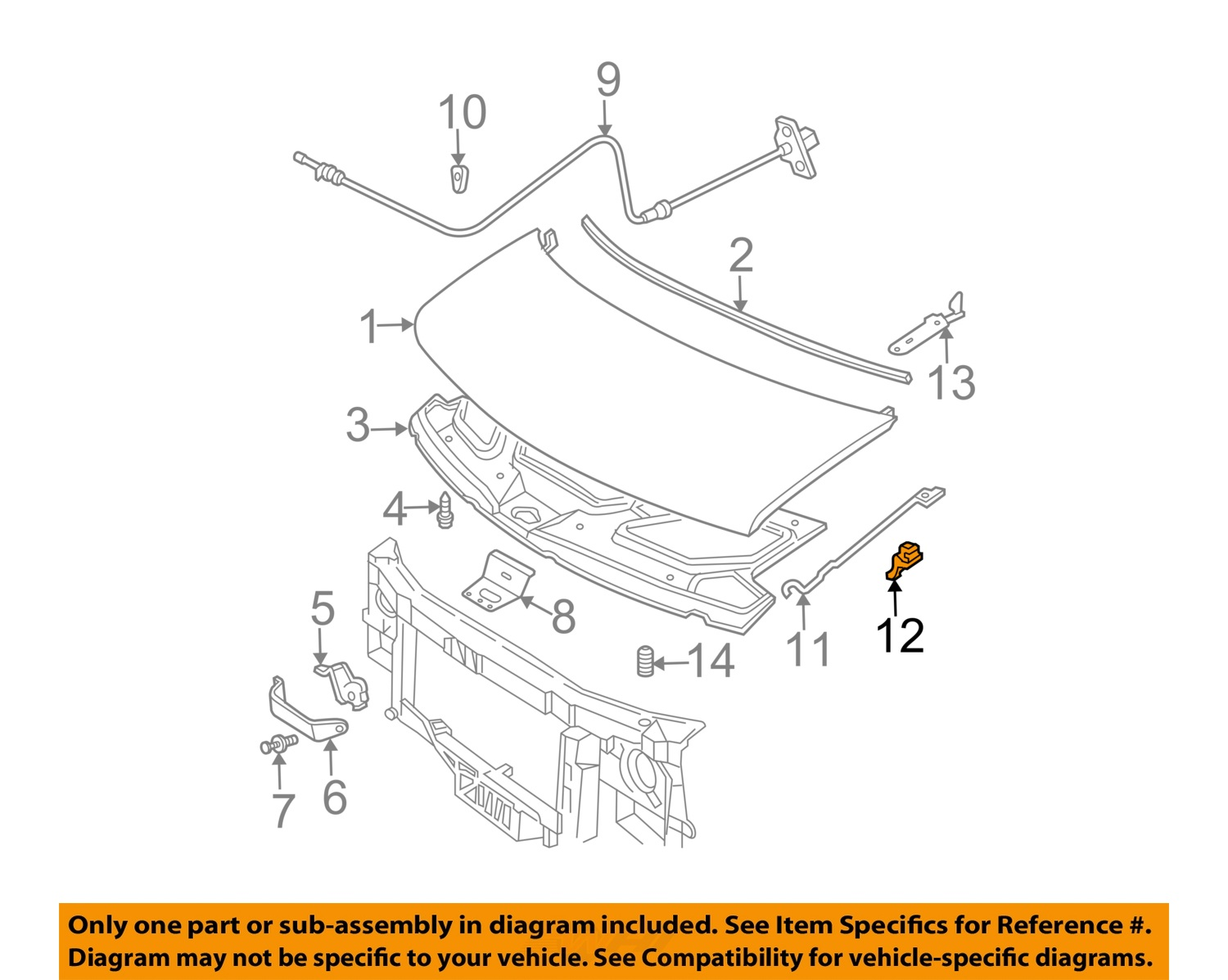 Gm oem hood support prop rod holder clip clamp 15571260 ebay gm oem hood support prop rod holder clip sciox Image collections