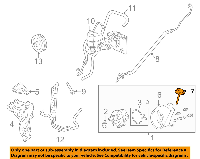 gm oem power steering pump reservoir tank cap 26095194 ebay. Black Bedroom Furniture Sets. Home Design Ideas