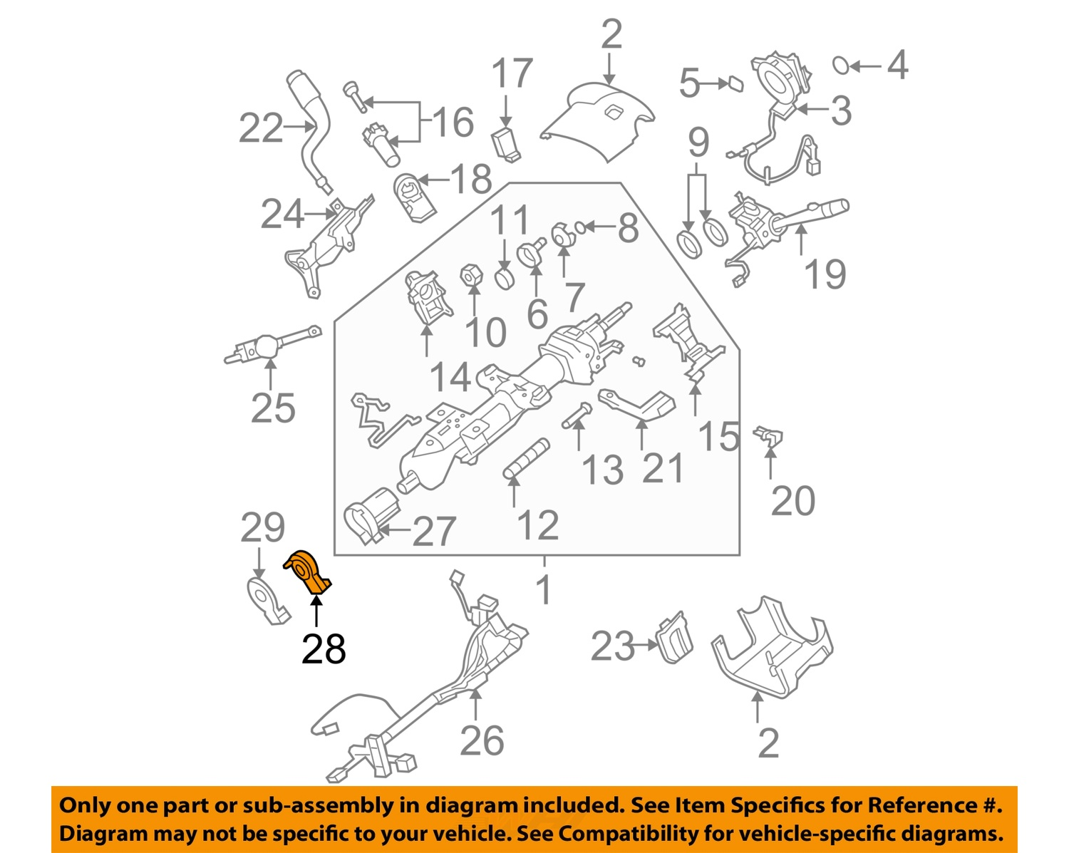 gm oem steering column angle position sensor 20910871 ebay. Black Bedroom Furniture Sets. Home Design Ideas