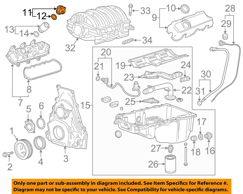Gm oem engine oil filler cap 12662196 ebay 11 on diagram only genuine oe factory original item pooptronica Gallery