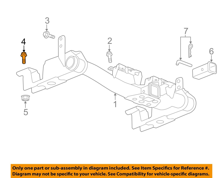 GH15168_4Full gm oem trailer hitch bolt 15016308 ebay trailer hitch diagram at gsmx.co