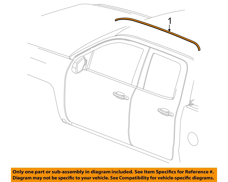 gm oem exterior cab roof molding right 23474428 ebay. Black Bedroom Furniture Sets. Home Design Ideas