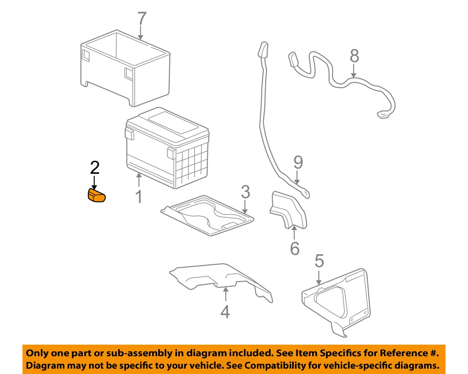 Gm Oem Battery Hold Down Tie Bracket Clamp 14005061 Ebay 2000 Gmc Savana Wiring Schematic 2 On Diagram Only Genuine Oe Factory Original Item