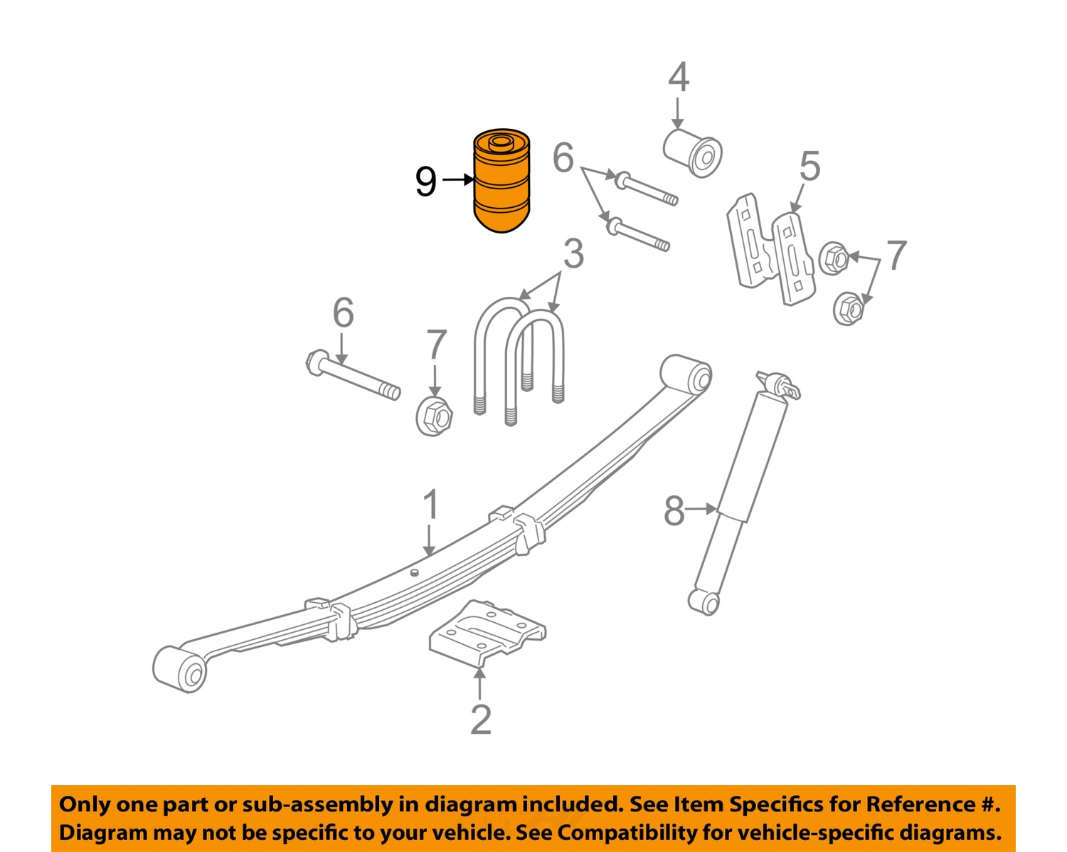 Hummer gm oem 06 10 h3 rear suspension auxiliary spring 15295277 9 on diagram only genuine oe factory original item sciox Choice Image