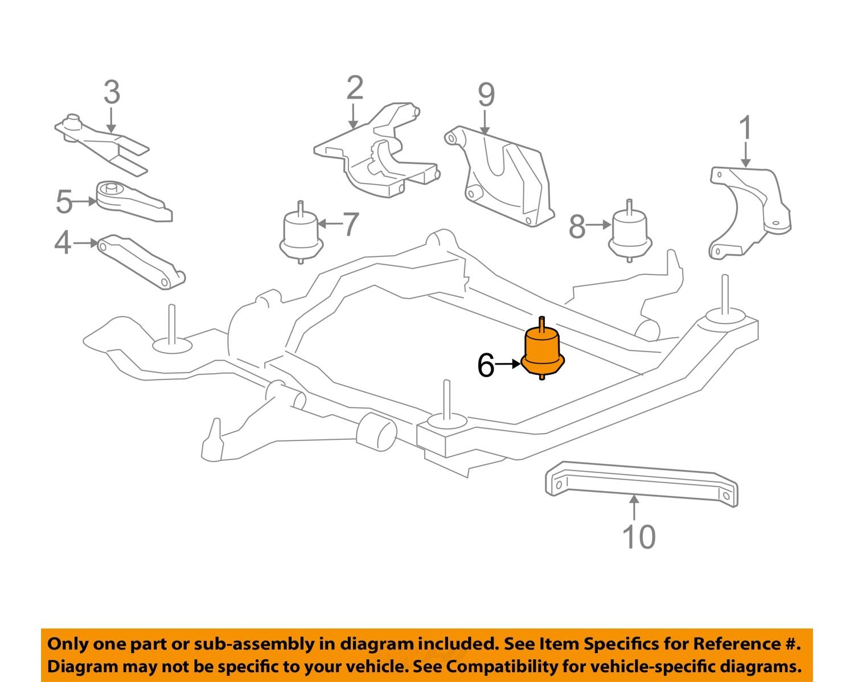 gm oem engine motor mount  torque strut 25840452 ebay Buick Enclave Body Parts