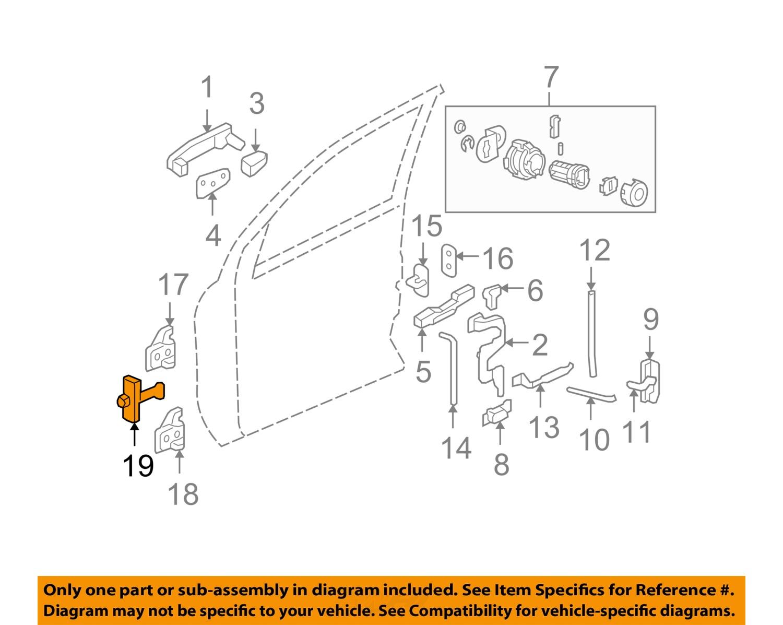 Details about GM OEM Front Door-Hinge Check Left 15861661