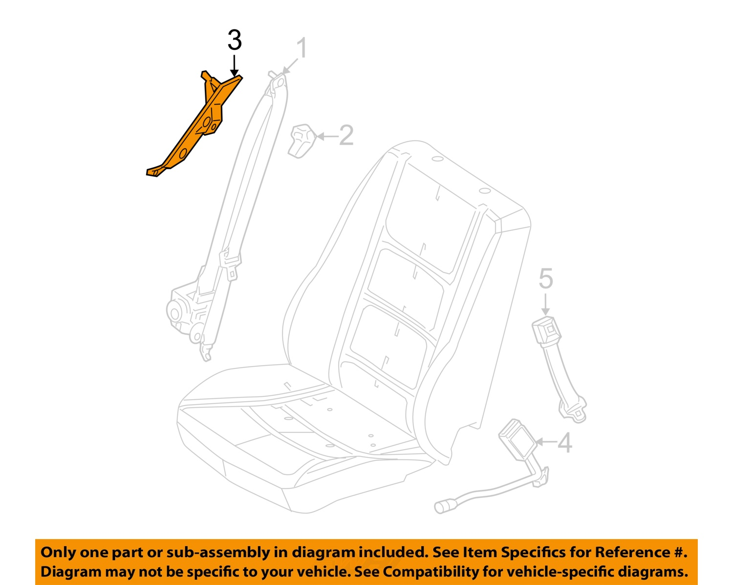 Ford Fusion: Seat belt height adjustment