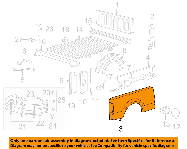 FORD OEM 04-08 F-150 Rear Fender Quarter Panel-Bed Right ...